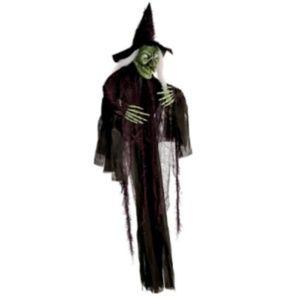 Halloween Hanging Witch 5 Feet Tall Light & Sound